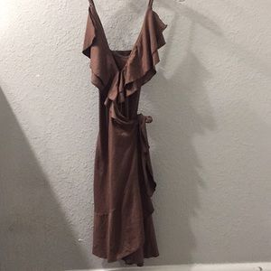 Guess brown wraparound dress